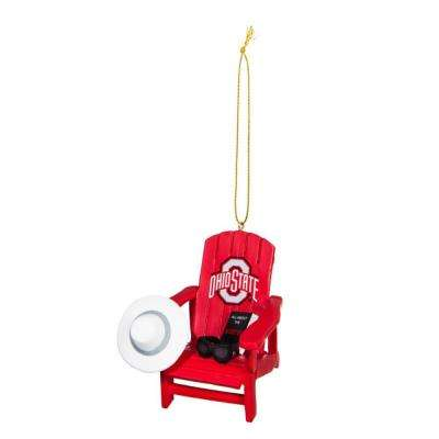 Ohio State University 3-1/2 in. NCAA Adirondack Chair Christmas Ornament