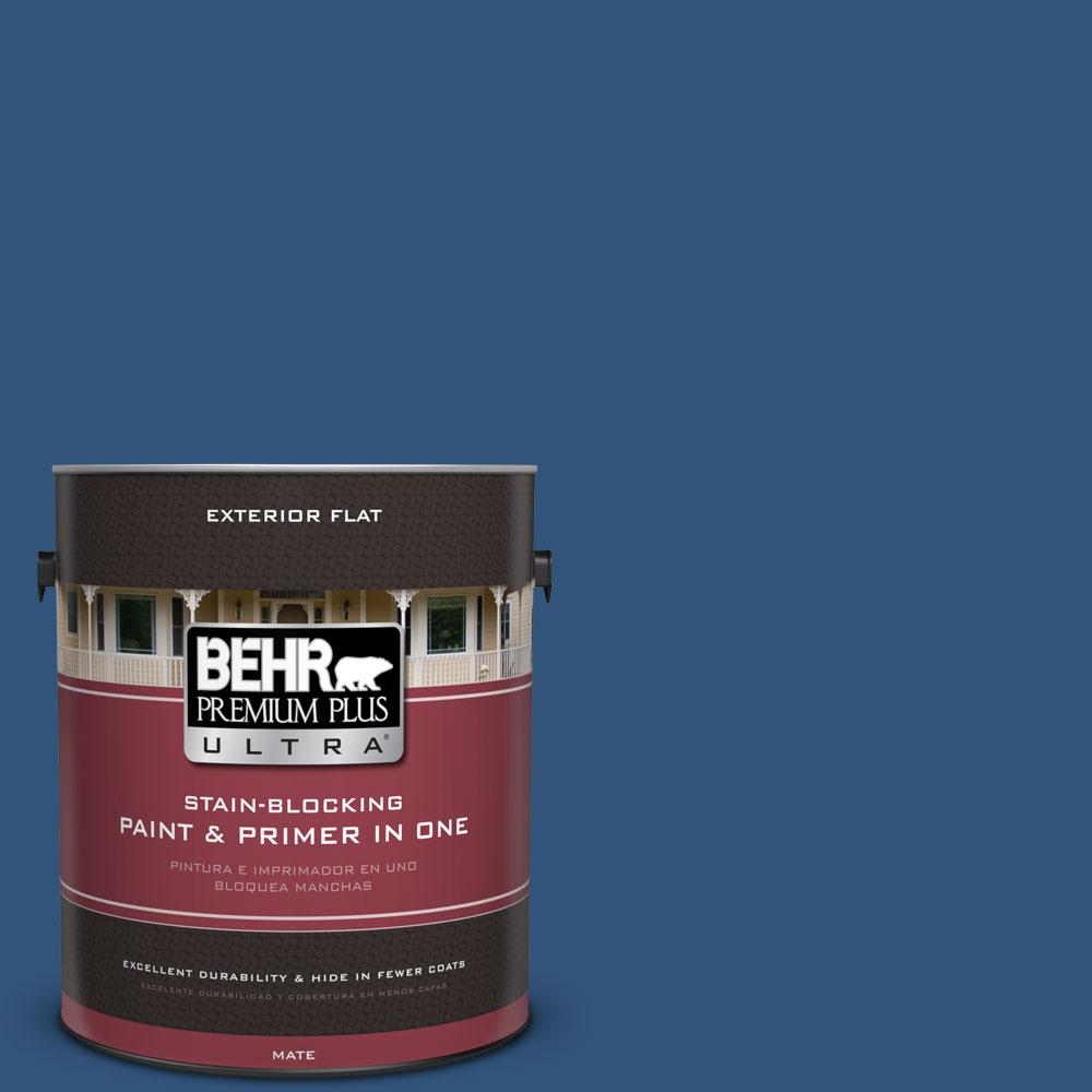 1-gal. #590D-7 Star Spangled Flat Exterior Paint