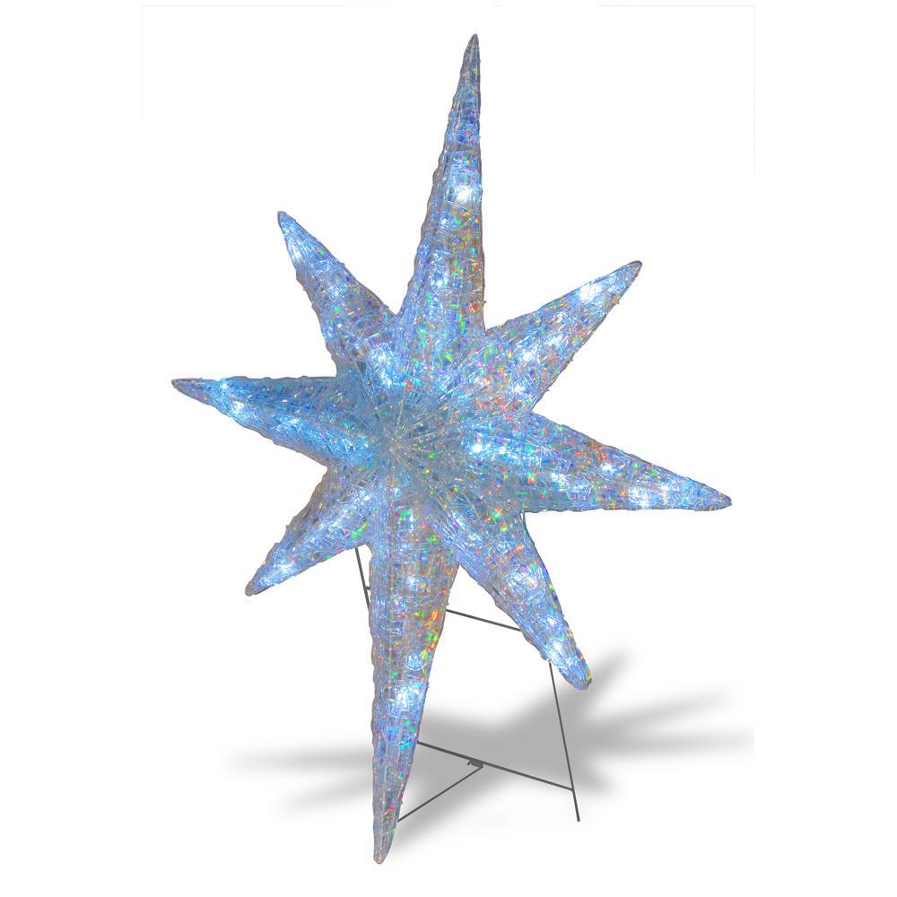 "20/"" Blue Bethlehem Star with Acrylic Center Outdoor LED Christmas Display NEW"