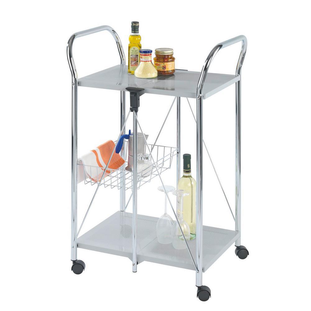 Dinette Chrome Kitchen Cart
