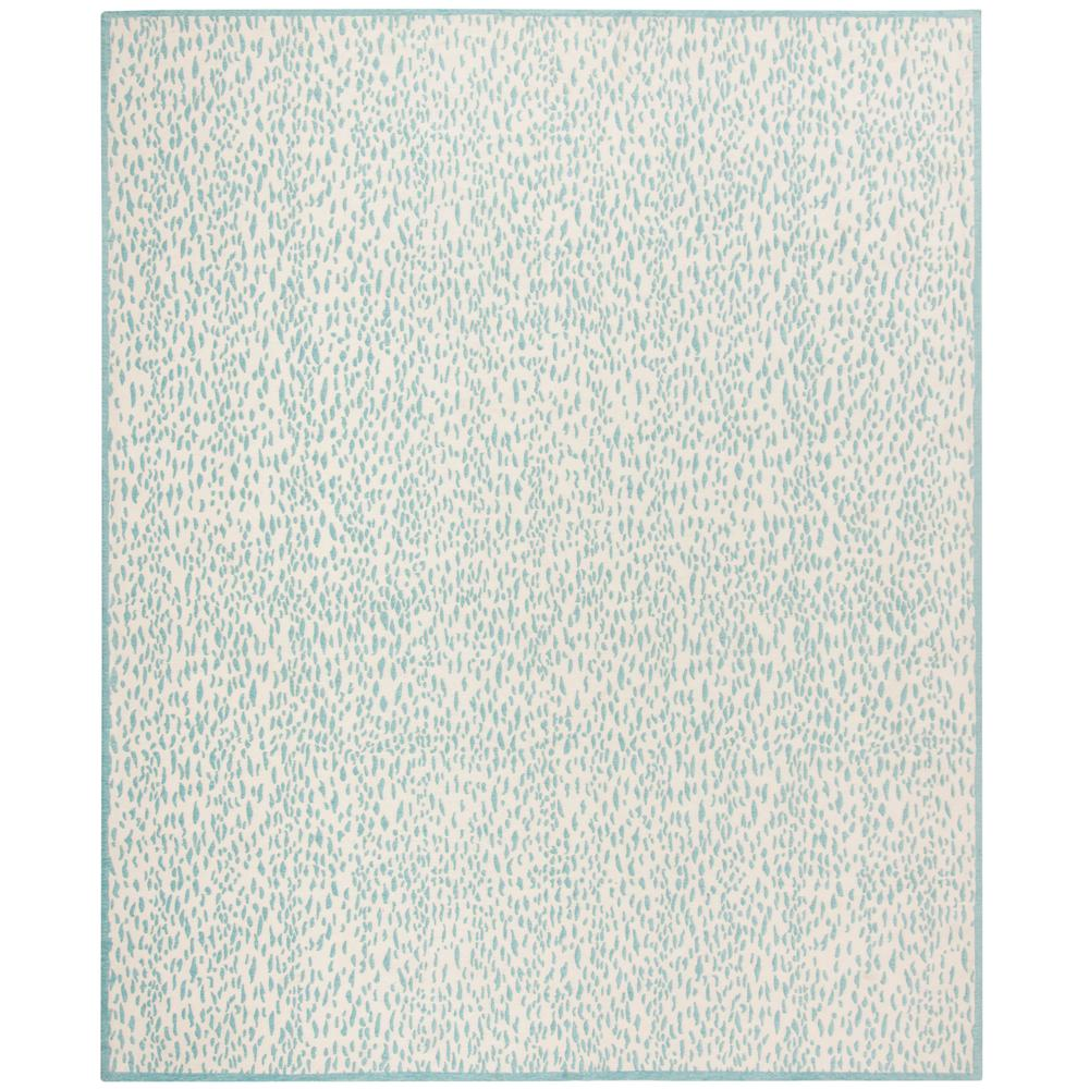 Safavieh Wyndham Turquoise Green 8 Ft X 10 Ft Area Rug: Safavieh Marbella Ivory/Turquoise 8 Ft. X 10 Ft. Area Rug