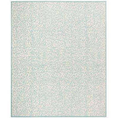 Marbella Ivory/Turquoise 8 ft. x 10 ft. Area Rug