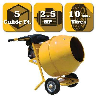 5 cu. ft. Gas Powered Commercial Duty Cement and Concrete Mixer