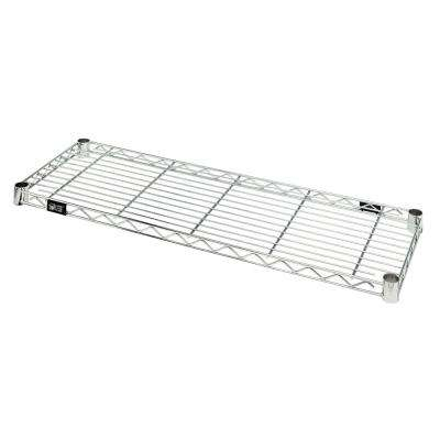 One Industrial 14 in. W x 36 in. L Chrome Wire Shelf
