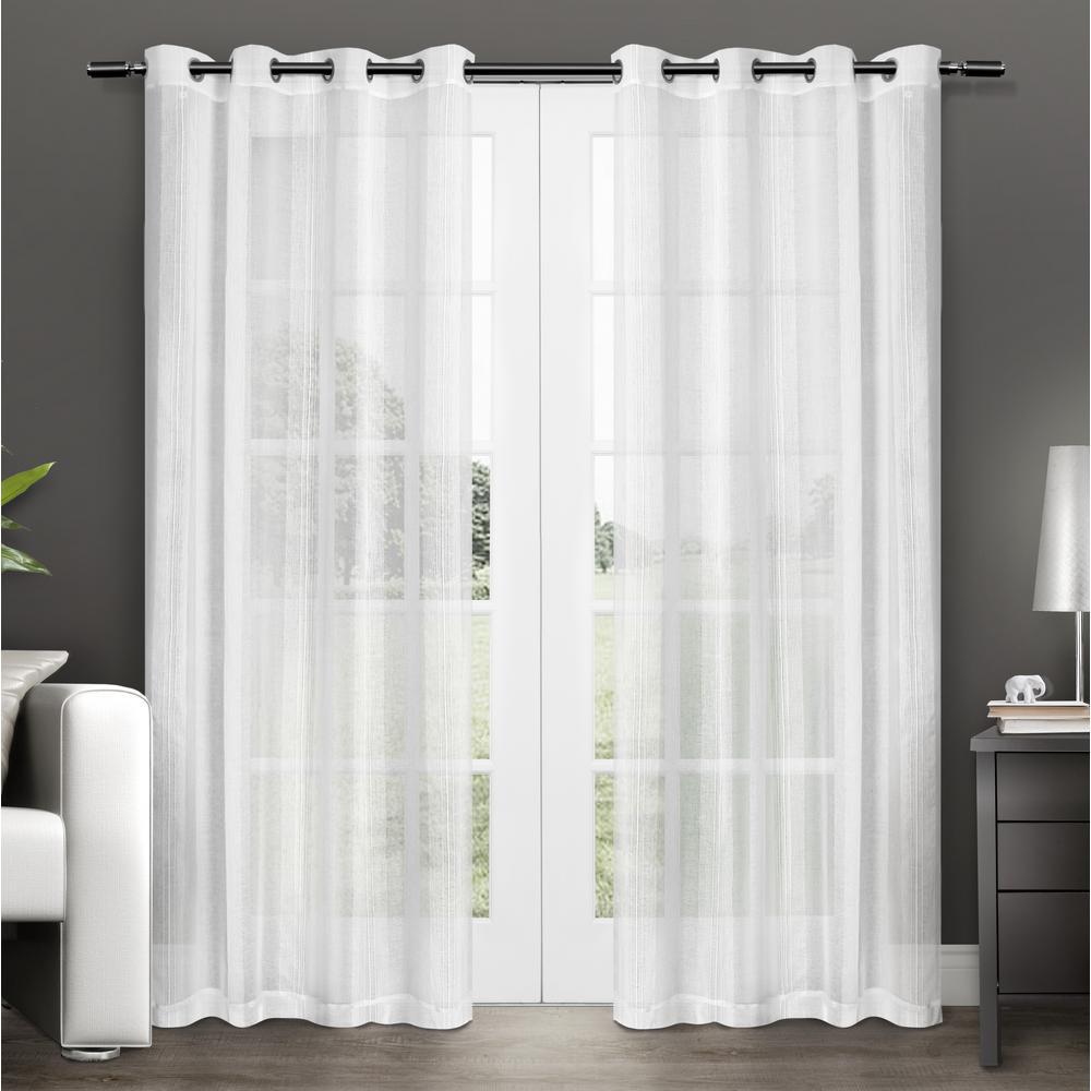 Sheer Grommet Top Curtain Panel