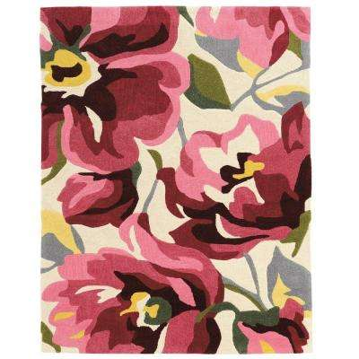 Trio Pink/Magenta 5 ft. x 7 ft. Indoor Area Rug