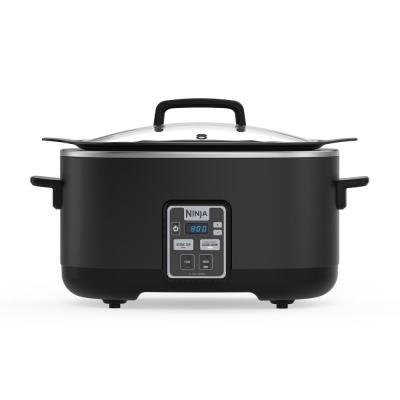 6 Qt. Black Slow Cooker with Touchpad Controls and Keep Warm Setting