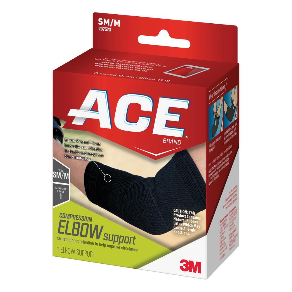 Small/Medium Elasto-Preene Elbow Support Brace in Black