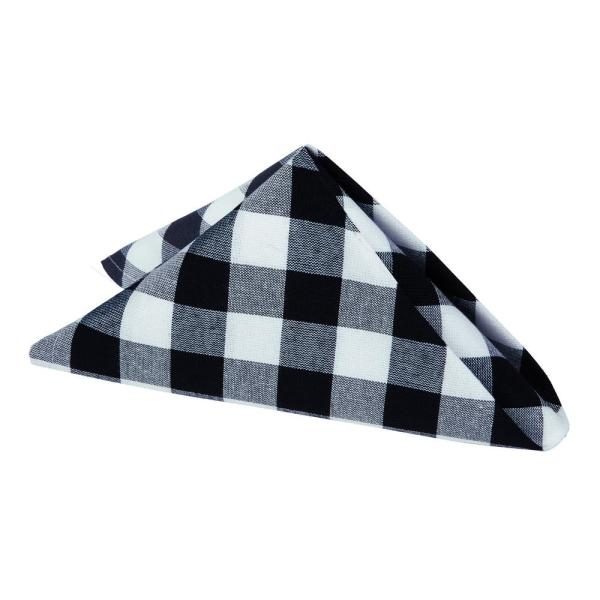 Buffalo Check 17 in. W x 17 in. H Black/White Checkered Polyester/Cotton Napkins (Set of 4)