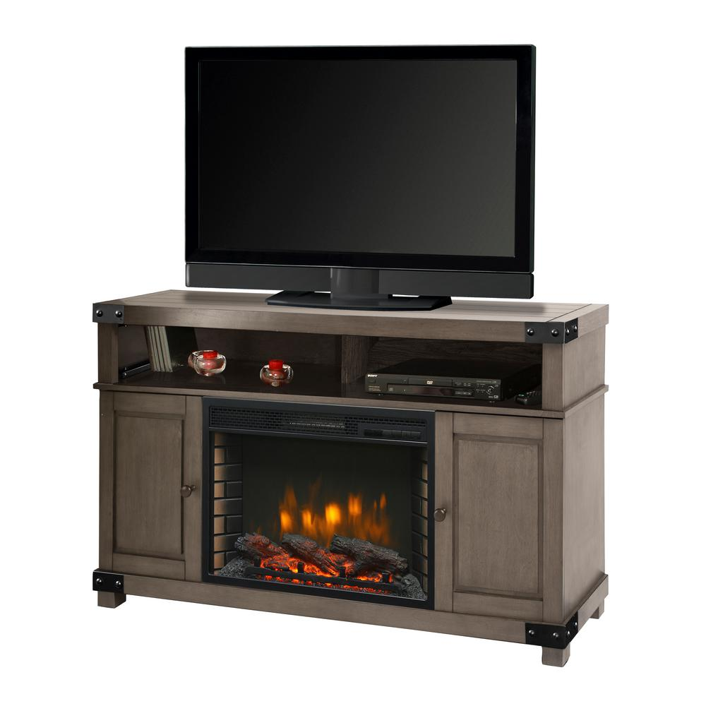 Muskoka Muskoka Hudson 53 in. Freestanding Electric Fireplace TV Stand in Dark Weathered Gray