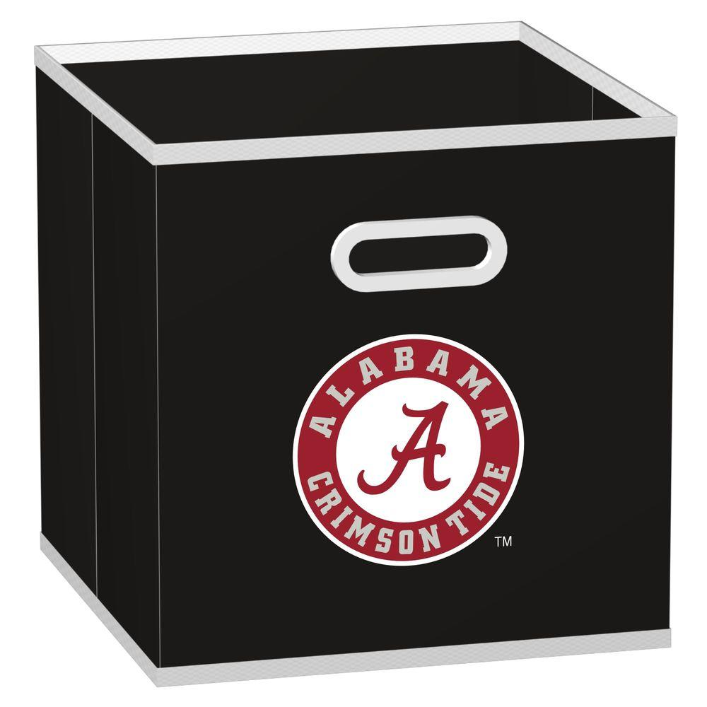 MyOwnersBox College Storeits University of Alabama 10-1/2 in. x 11 in. Black Fabric Storage Drawer