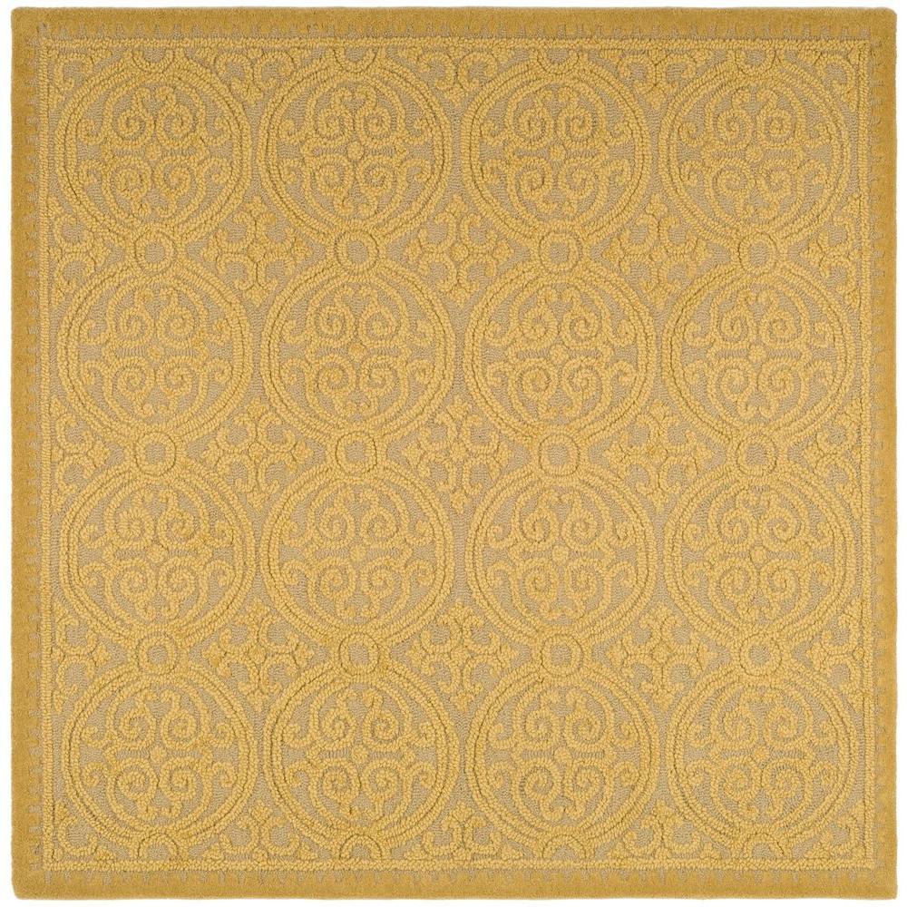 Safavieh Cambridge Light Gold Dark Gold 4 Ft X 4 Ft