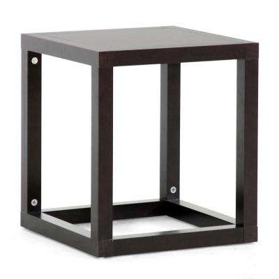 Hallis Dark Brown End Table