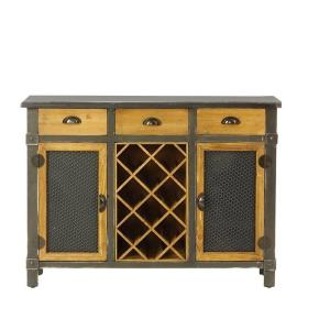Deals on Dolcetto 8-Bottle Distressed Grey Wine Cabinet