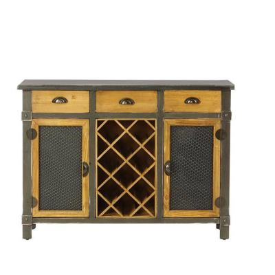 Dolcetto 8-Bottle Distressed Grey Wine Cabinet