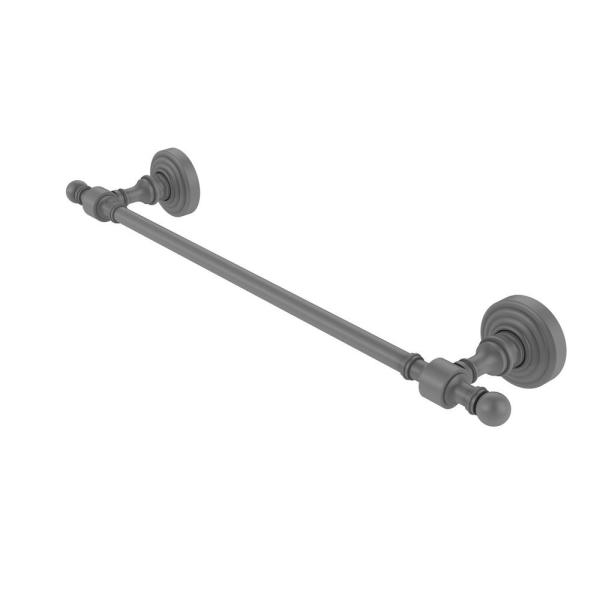 Allied Brass Retro Wave Collection 36 In Towel Bar In Matte Gray Rw 31 36 Gym The Home Depot