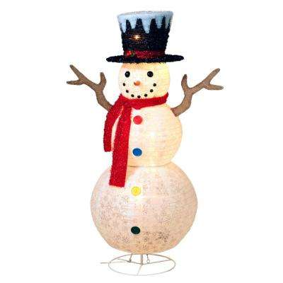 48 in. H Electric Lighted Outdoor Snowman