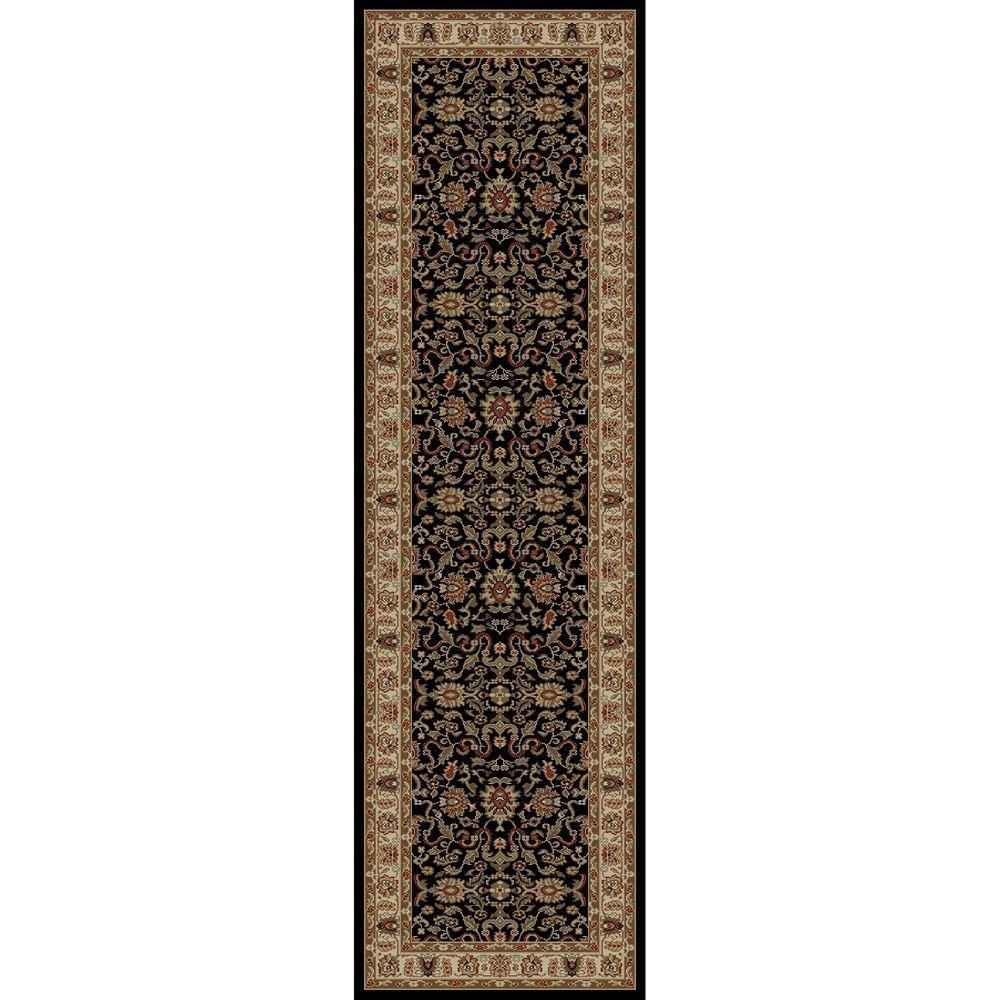Ankara Agra Black 2 ft. x 7 ft. Runner Rug