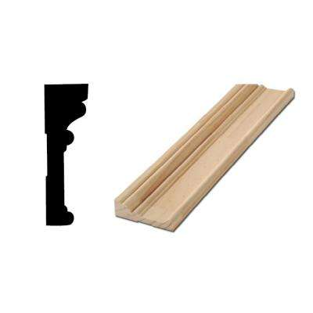RB 03 1-1/16 in. x 3-1/2 in. x 88 in. Solid Pine Door and Window Casing