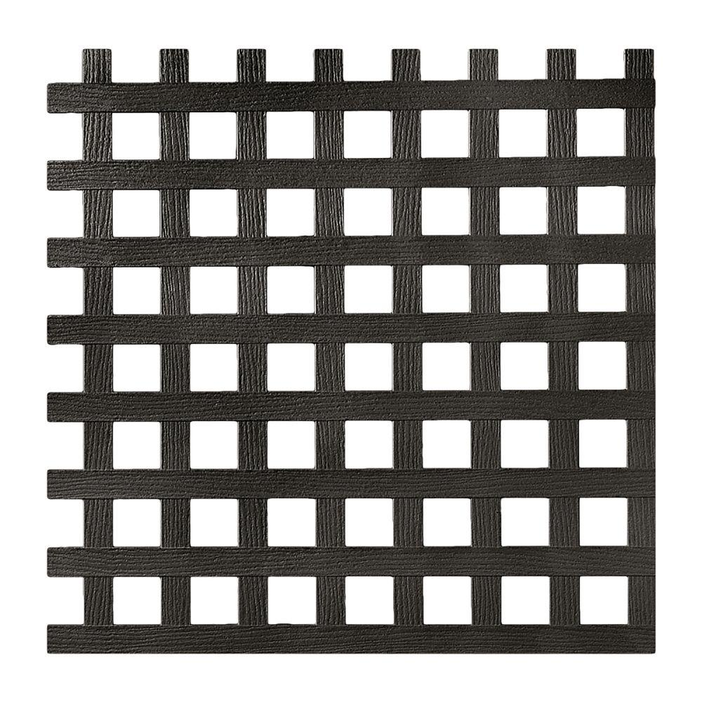 0.2 in. x 48 in. x 8 ft. Black Privacy Square