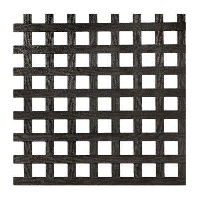 0.2 in. x 48 in. x 8 ft. Black Privacy Square Plastic Lattice