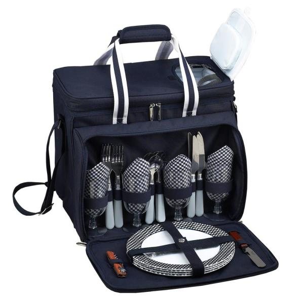 undefined Deluxe Picnic Cooler for 4 in Bold Navy