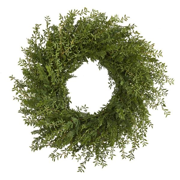 27 in. Mixed Grass Artificial Wreath
