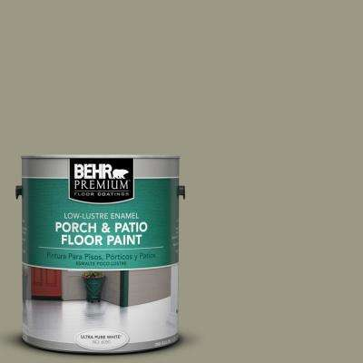 1 gal. #PPU8-20 Dusty Olive Low-Lustre Interior/Exterior Porch and Patio Floor Paint