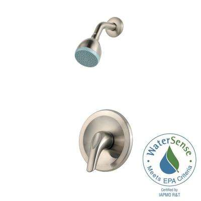 Pfirst Series Single-Handle Shower Faucet Trim Kit in Brushed Nickel (Valve Not Included)