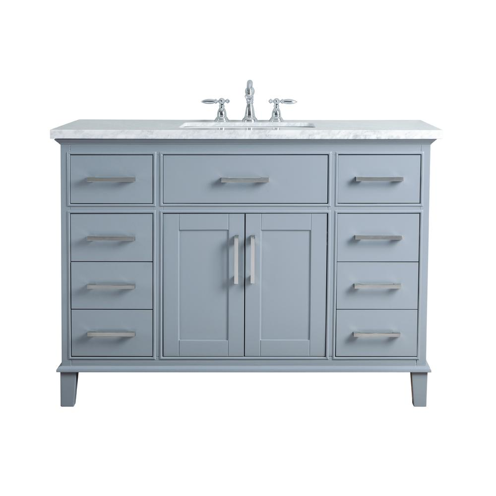Stufurhome 48 in leigh single sink bathroom vanity in for Local bathroom vanities