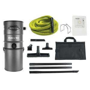 Canavac Wall-Mounted Power Utility Central Vacuum Cleaner With 50 Ft Hose Ultimate Package