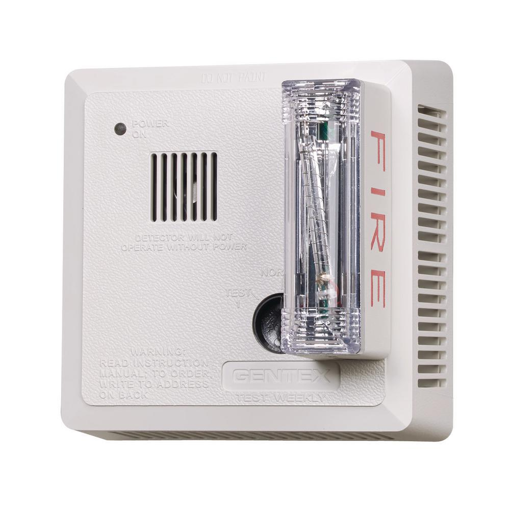 Gentex Hardwired Interconnected Photoelectric Smoke Alarm Ceiling Mount Ada Strobe With Battery Backup