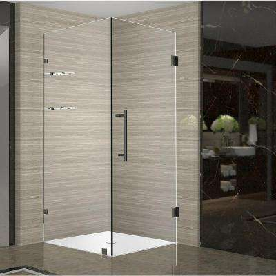 Aquadica GS 36 in. x 36 in. x 72 in. Frameless Square Shower Enclosure with Shelves in Oil Rubbed Bronze