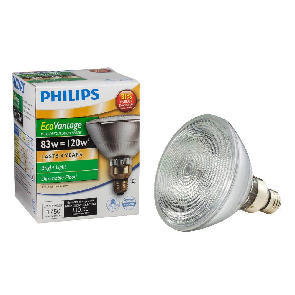 Philips 120W Equivalent Halogen PAR38 Dimmable Indoor