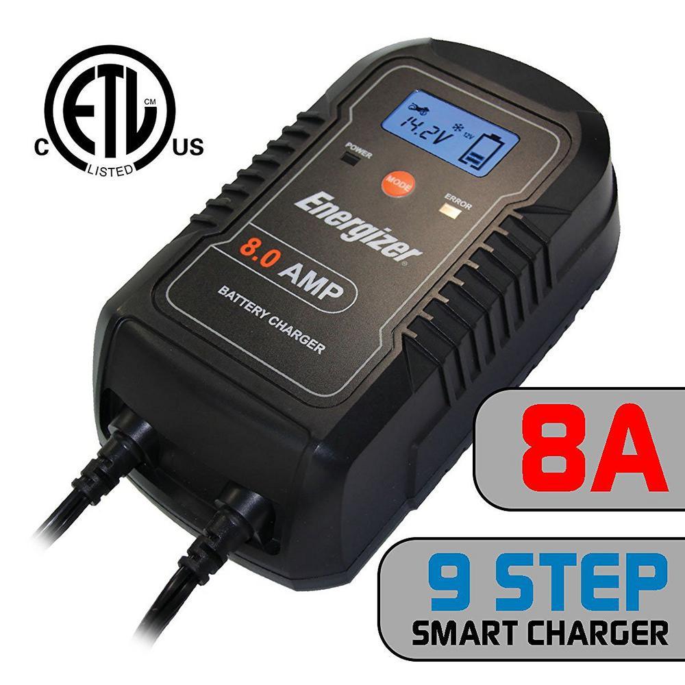 energizer 8 amp charger enc8a the home depot. Black Bedroom Furniture Sets. Home Design Ideas