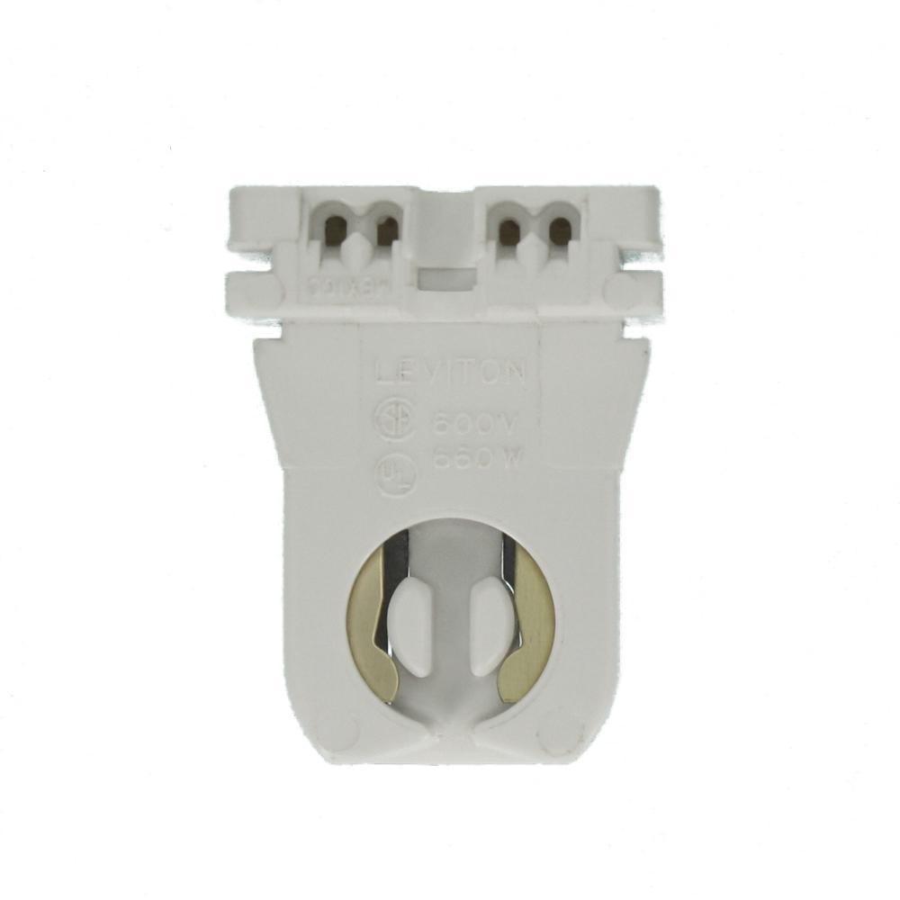 For Programmed Start Ballasts Non-Shunted T8 to T5 Leviton 13654-EXS Mini Bi-Pin Socket Lamp-Lock Lamp Adapter