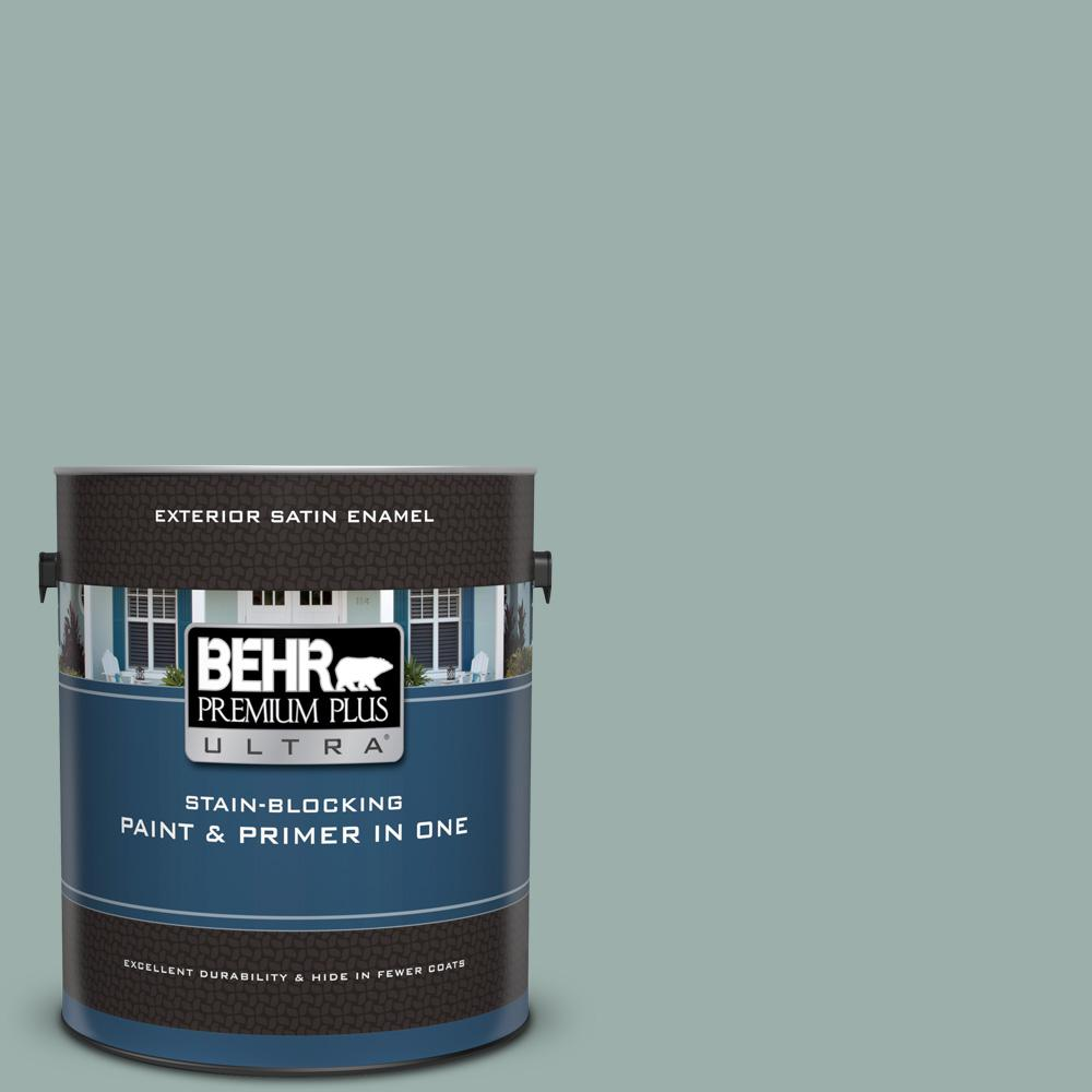 Behr Premium Plus Ultra 1 Gal 490f 4 Gray Morning Satin Enamel Exterior