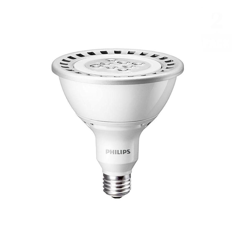 Philips 120W Equivalemt Soft White (2700K) PAR38 Dimmable LED Flood Light Bulb (E*) (2-Pack)