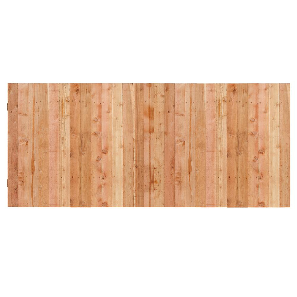 Outdoor Essentials 3-1/2 ft. x 8 ft. Western Red Cedar Privacy Flat Top Fence Panel Kit