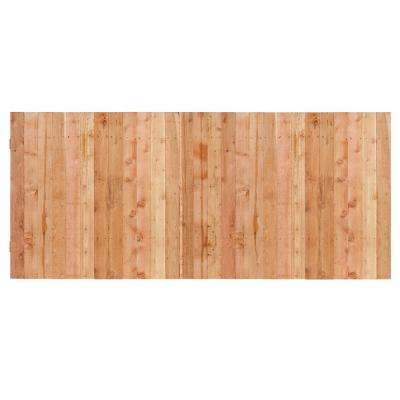 3-1/2 ft. x 8 ft. Western Red Cedar Privacy Flat Top Fence Panel Kit