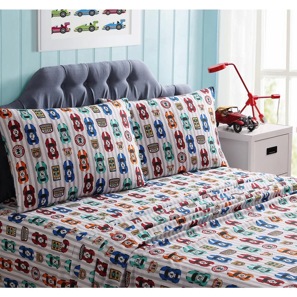 3-Piece Big Race Twin Sheet Set