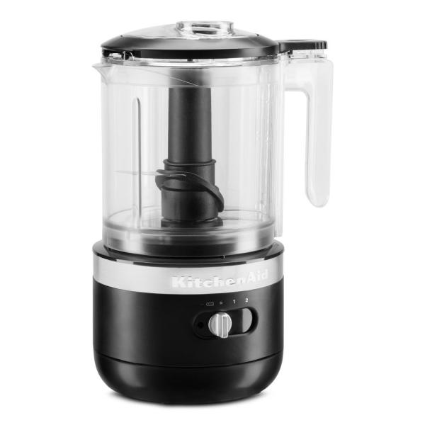 Cordless 5-Cup Black Matte Food Chopper