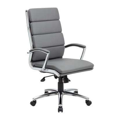 Grey Executive CaressoftPlus Chair with Metal Chrome