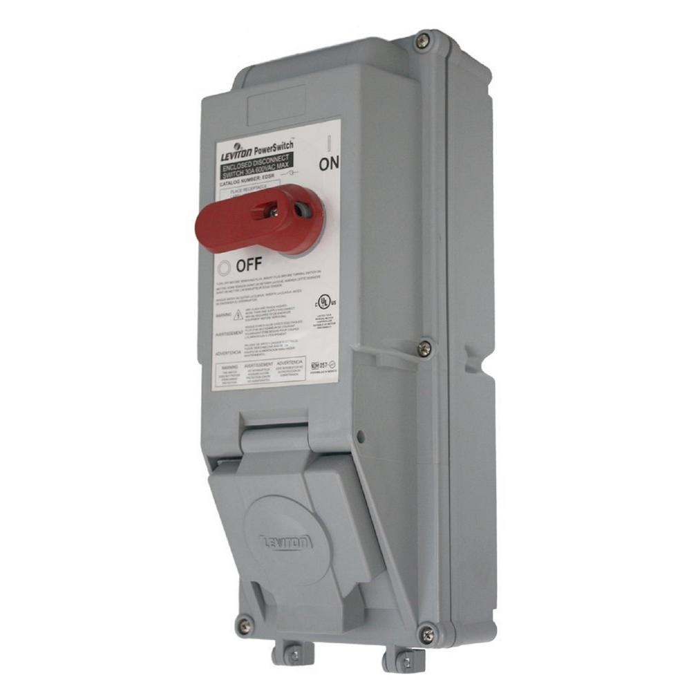leviton safety switches edsr 23 64_1000 ge 30 amp 120 240 volt 240 watt fused ac disconnect tf30rcp the Fireworks Safety Fuse at crackthecode.co