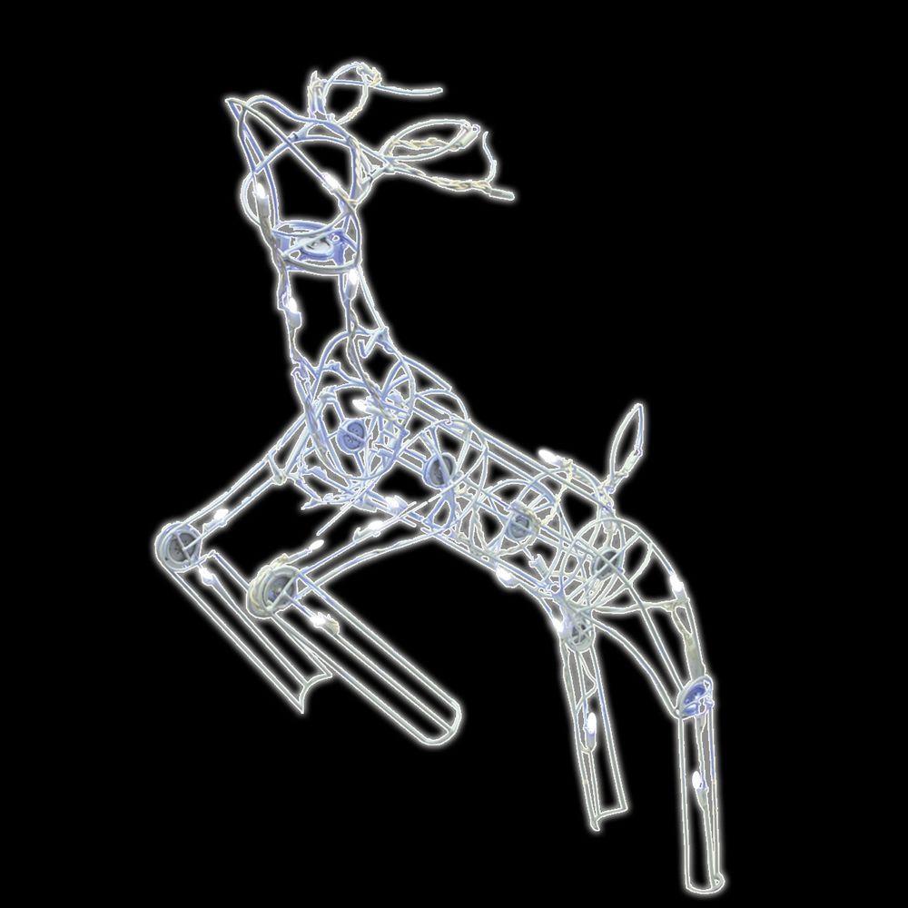 48 in. 60-Light LED Multi Posing Deer
