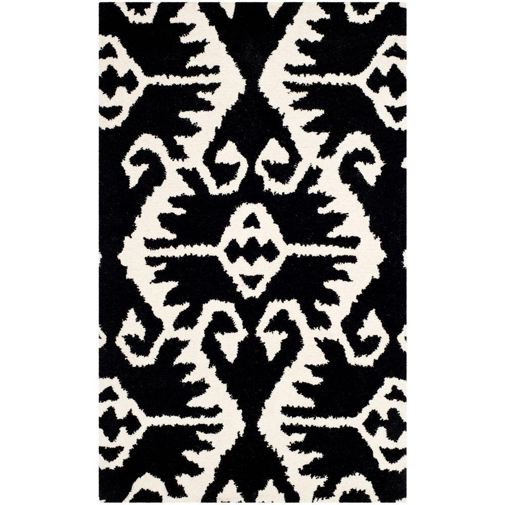 Wyndham Black/Ivory 4 ft. x 6 ft. Area Rug