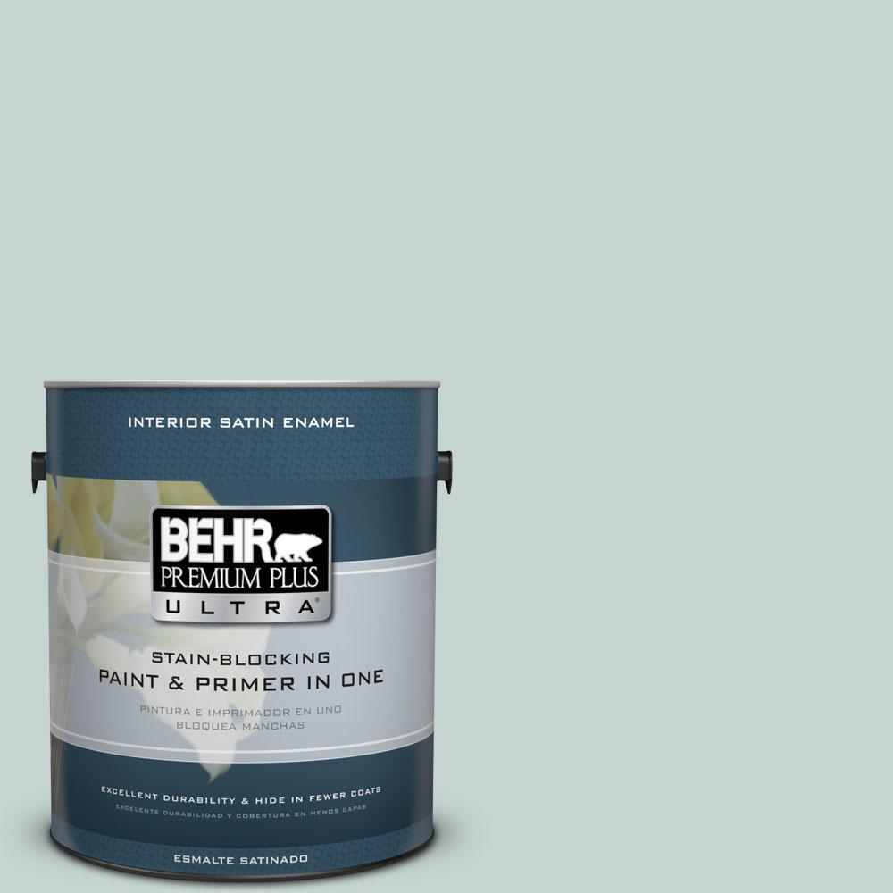 1 gal. #490E-3 Celtic Gray Satin Enamel Interior Paint and Primer