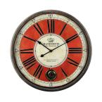 Yosemite Home Decor Grand Crown Black & Red Oversized Wall Clock