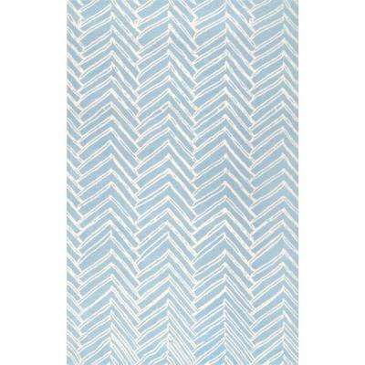 Alex Blue 7 ft. 6 in. x 9 ft. 6 in. Area Rug