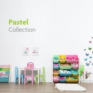 Pastel Collection White/Pastel Toy Storage Organizer with 12 Plastic Bins & Tot Tutors Friends Collection White/Pink/Purple Kids Toy Storage ...